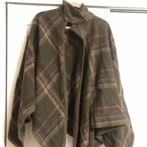 Ralph Lauren Wool Equestrian Poncho with Buckles